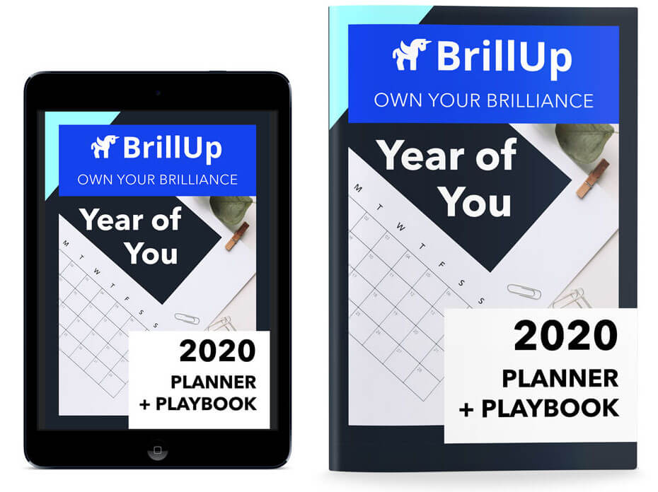 Year of You Planner Cover on IPad and Printed Example